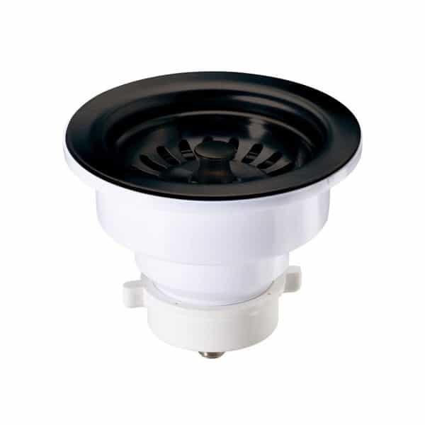 "A-SS-11 / Sink Strainer PVC for Kitchen w/ Matte Black Finish - 4-1/2"" X 3"""