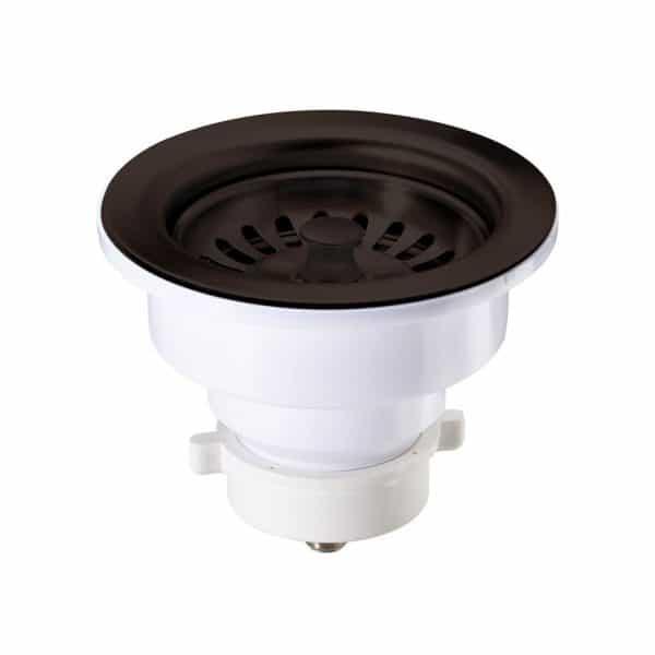 "A-SS-13 / Sink Strainer PVC for Kitchen w/ Dark Coffee Finish - 4-1/2"" X 3"""
