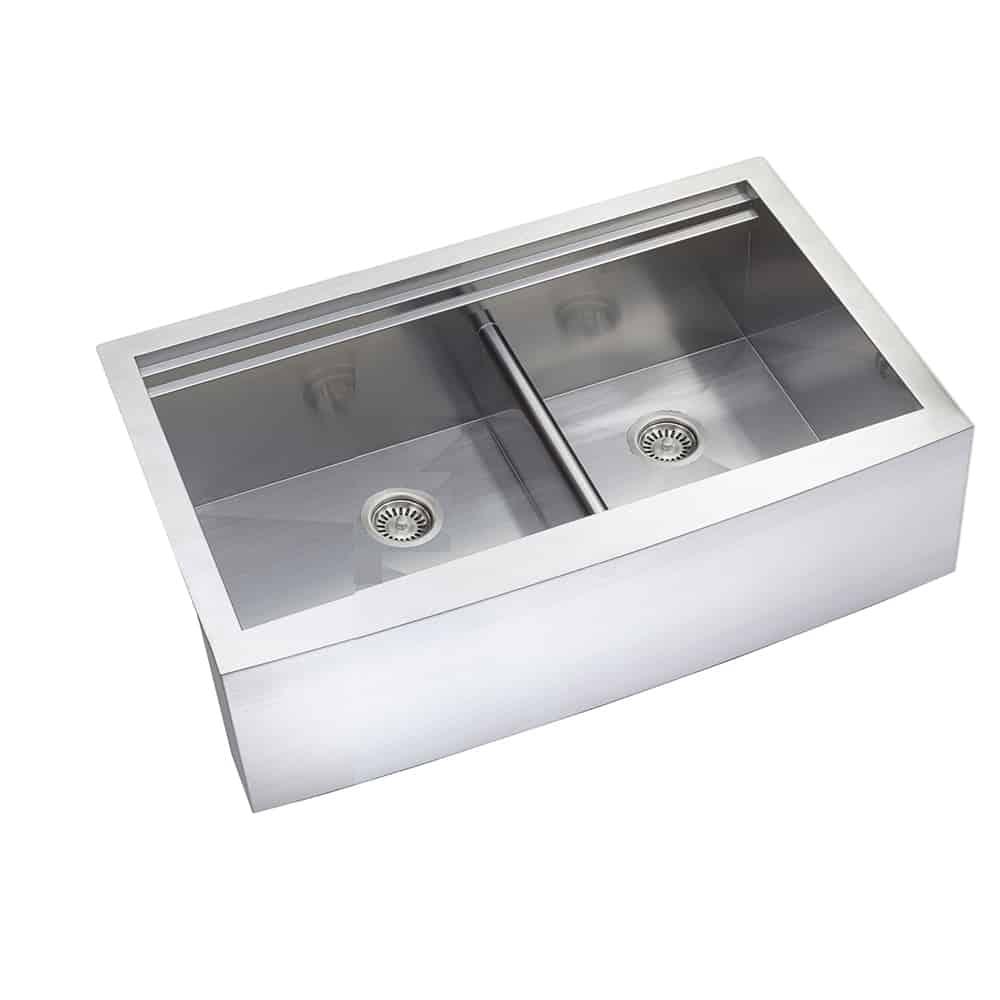 Double Ledge Kitchen Sink 33 X 22 3 4